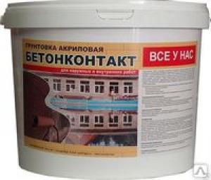 БЕТОНКОНТАКТ Грунтовка акриловая (6кг)/Все у Нас