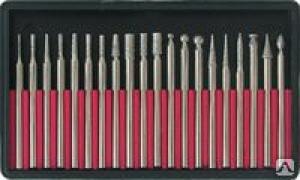 Шарошки усиленная сталь 70 с алмазным напылением (20шт) 36485, Fit