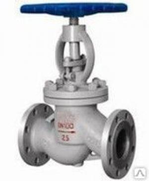 Вентиль стальной запорный (Ду 20) проходной,фланцевый вода