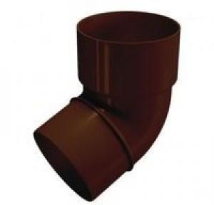 Колено трубы Ø80 Baudorf 67° коричневый