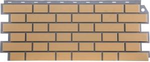 Фасадная панель FineBer Кирпич Облицовочный желтый