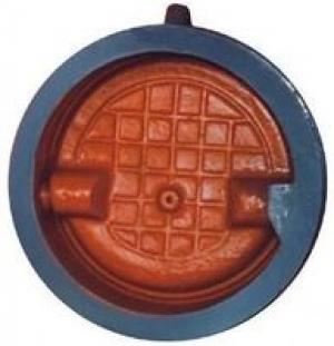 Клапан обратный (Ду 150) поворотный, без присоединения