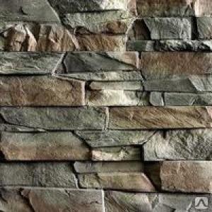 """Плитка фасад """"Рваный камень"""" 264*127 Серая"""