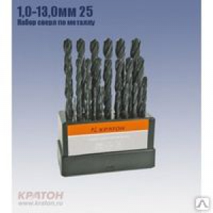 Сверло по металлу HSS 1,3 мм, Кратон