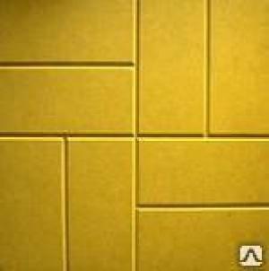"Плитка тротуар ""8 кирпичей"" 400*400*50 Желтая"