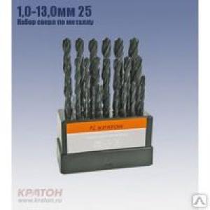 Сверло по металлу HSS 1,0 мм, Кратон
