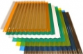 Профилированный поликарбонат 1,2мм 1,05х2м.  Волна (цветной)