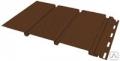 Виниловый софит сплошной 3000*305мм Grand Line® (коричневый)