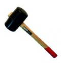 Киянка резиновая, деревянная ручка 55мм, 400гр, Fit