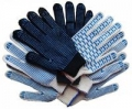 Перчатки 10/ 5-150 текс х/б с пвх белые