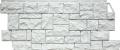 Фасадная панель FineBer 1117*463мм Камень Дикий (Мелованный белый)