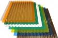 Профилированный поликарбонат 1,3мм 1,05х2м.  Трапеция (цветной)