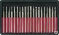 Шарошки усиленная сталь с алмазным напылением (10шт) 36484, Fit