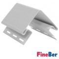 Наружный угол FineBer белый 3050 мм