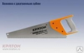 Ножовка 2-гр зуб обрезиненная ручка 450мм шаг 5мм 2 03 01 014, Кратон